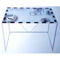 Escritorio Vidrio Metal 100 X 65 X70 Cm