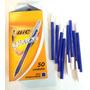 Lapiceras Bic Caja X50 Unidades Solo Color Azul