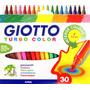 Caja 30 Marcadores Turbo Color Giotto Lavables No Toxicos