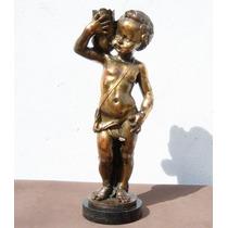Hist.*- Figura Querubín Firma Giannelli-cobre Laminado-envío