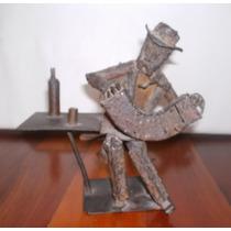 Escultura De Marjan Grum Bandoneonista