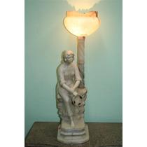 El_kin * Figura De Alabastro Motivo Mujer Con Luminaria