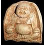 Buda Sonriente En Cemento O Yeso Patinado Marmolado