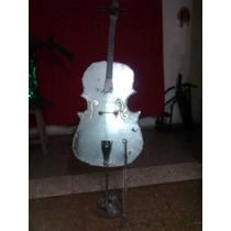 Escultura En Metal Violoncello