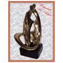 Escultura Arte Moderno Bañado En Oro D´argenta (1219)