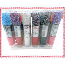 2 Esmaltes + Caviar Escamas Deco Uñas Maquillaje Ydnis