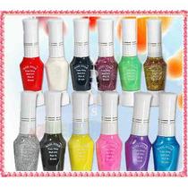Kit 6 Esmalte Deco Uñas C/ Pincel + Lainer Stamping Maquilla