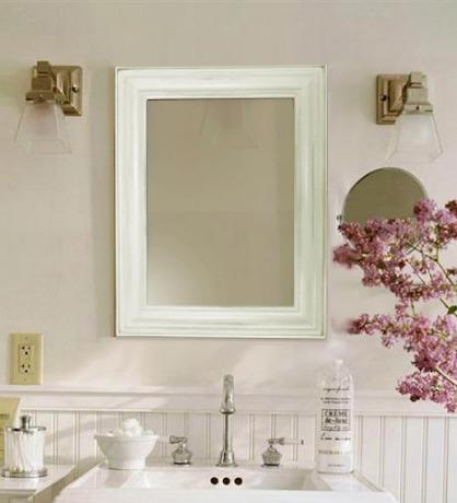 Decorar espejos de bano dise os arquitect nicos for Espejos de bano rusticos de madera