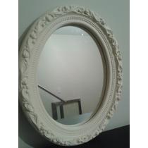 Espejo Pared Ovalado Estilo Antiguo Yeso