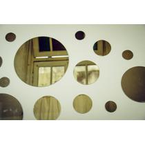 Kit 15 Espejos Redondos - Circulares / Baño, Living, Comedor