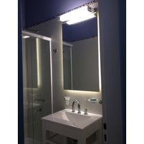 Moderno Espejo Para Baño Con Luz Led Borde Pulido