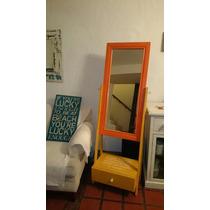 Espejo De Pie Con Cajón