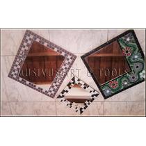Espejo Artesanal Con Venecitas De 25cm