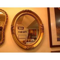 Espejo Con Marco Dorado Redondo