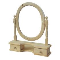 Marco Espejo Oval Madera De Pino C/ Cajoneras
