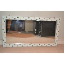 Espejo Con Marco Madera Decorado .0,88x0,44cm. ¡leer Todo!