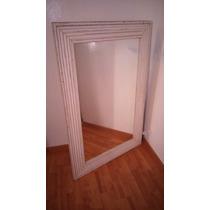 Espejo Marco De Madera Con Moldura Rustico 1,20m X 0,80m - K