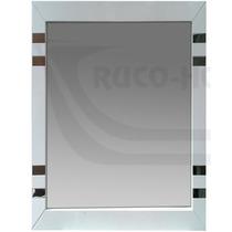 Espejo Marco 50x70 Detalles Acero Blanco Baño Living Decor