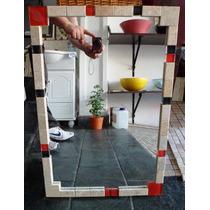 Espejo Marco De Venecita Y Marmol Decoracion 60x40cm!oferta