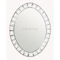 Espejo Marco De Espejitos Oval 45x60 Cm De Diametro Oferta!!