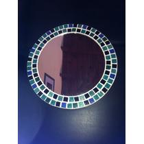 Espejo Redondo Con Venecitas 40 Cm Diametro Total.