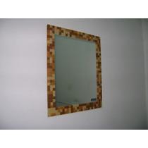 Espejo Revestido En Venecita 60x70 Para Baño / Living / Deco