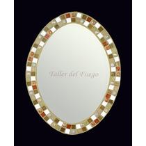 Espejo Oval Venecitas, Gemas Y Espejitos!! Oferta!!