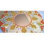 Espejo Circular Mosaiquismo 50cm Diámetro Florsol