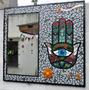 Espejo Artesanal En Mosaico Diseño Mano De Fatima