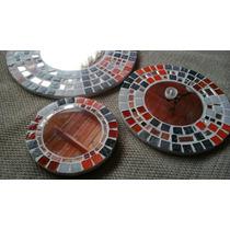 Set Por 3 Espejos Circulares Con Venecitas.