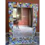 Espejo Venecitas Multicolor 50x70+ Estante. Diseño Y Deco