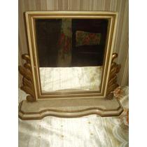 Antiguo Espejo Bascular Con Marco Frances