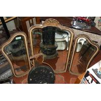 Antiguo Espejo Triptico Provenzal 3 Hojas (---)