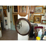 Espejo Oval Madera Tallada Antiguo Impecable 71 X 61 Cm