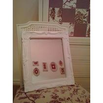 Espejo En Marco Estilo Antiguo Frances Con Molduras Blanco