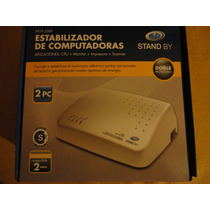 Estabilizador De Tension P/2 Pc Stand By 2200 Va 2 Pc 4 Toma
