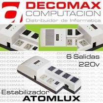 Estabilizador Atomlux R1000@ 6tomas 220v 1000va - El Mejor!!