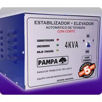 Elevador Automático De Tensión 4 Kva Pampa Estabilizador