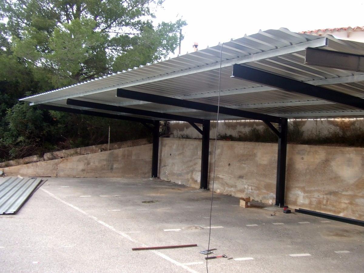 Estacionamientos pergolas techo para autos estructuras for Techos metalicos para cocheras