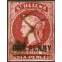 Santa Helena Antiguo Sello Sin Perforar Usado Resellado 1863