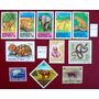 Tema Fauna - Lote 11 Sellos, 1 Serie Animales Usados L3191