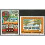 Centroafricana Rep. 2 Sellos Escuela Militar Y Correos 1972