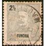 Funchal Antiguo Sello Usado Rey Carlos Años 1897-1905
