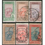 Túnez Serie X 6 Sellos Usados Encomienda Postal Año 1906