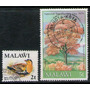 Malawi 2 Sellos Usados Ave = Árbol Años 1975-79