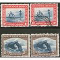 Sudáfrica Oeste (swa) 4 Sellos Usados Barcos-roca Arco 1931