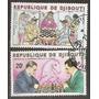 Djibouti Ajedrez Ex Colonia Francesa Serie De 2v. Año 1980
