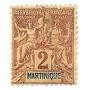Colonia Francesa Martinica Sello De 2 C. Año 1892