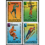 Mongolia Serie X 4 Sellos Usados Olimpíadas De Invierno 1986