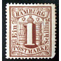 Alemania Hamburgo, Sello Yv. 14 1s Marrón Nuevo L6823